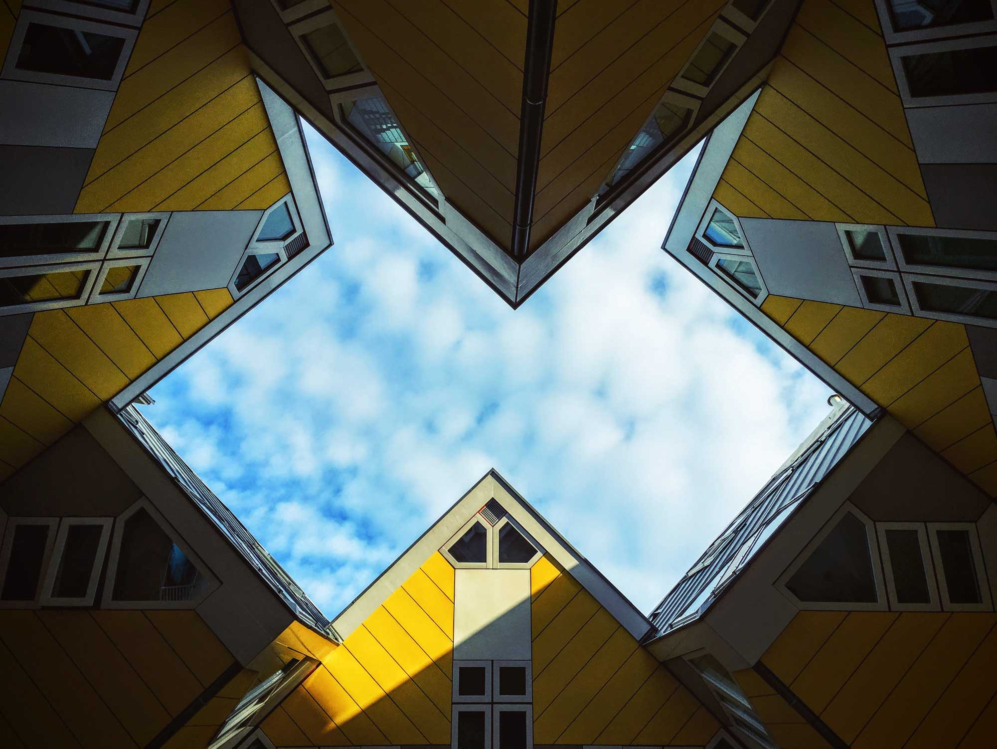 Abstract Image of Buildings Looking Toward Sky